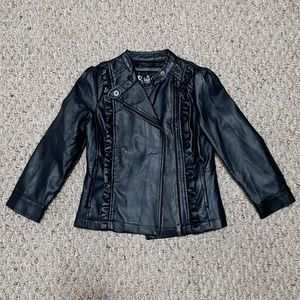 Toddler Girl Leather Like Jacket